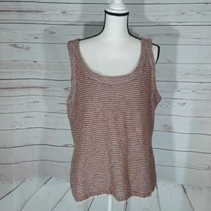 St. John Sport knit sweater tank large